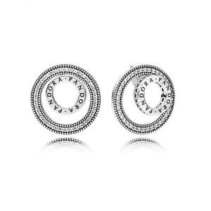 ✨Pandora Logo Circle Stud Earrings